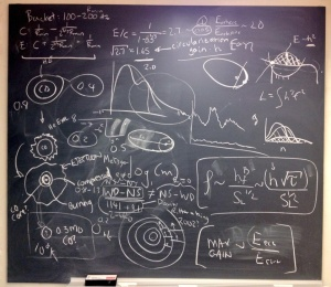 My office chalkboard after just a couple of days at the Aspen Center for Physics.